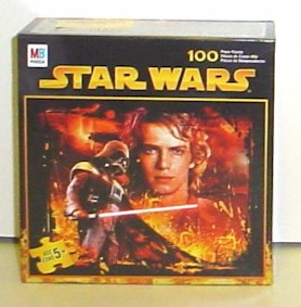 Collectors Gallery Episode 3 Revenge Of The Sith Milton Bradley 100 Piece Darth Vader Anakin Skywalker Puzzle Sealed